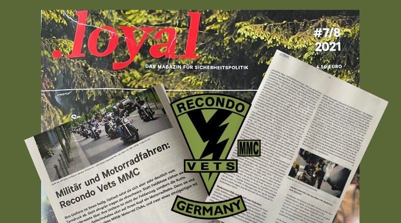 RecondoVetsMMC in der .loyal des Reservistenverband