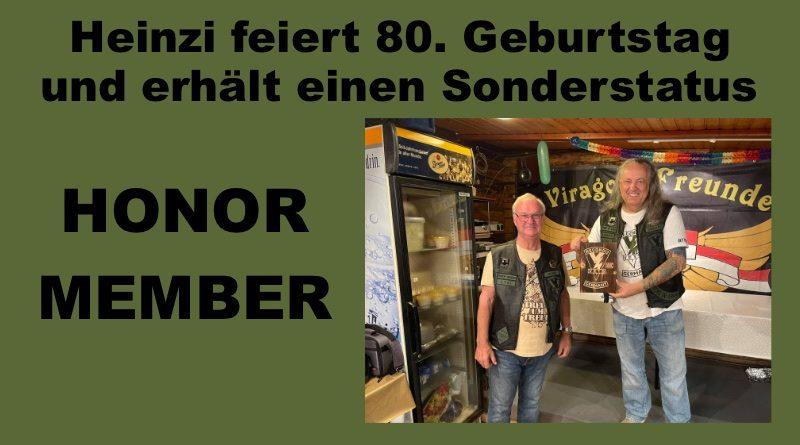 Heinzi feiert 80. Geburtstag